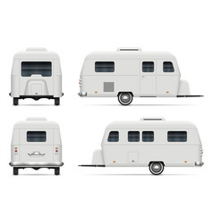 rv trailer view from side front vector image