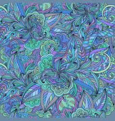 Seamless elegant floral doodle pattern vector