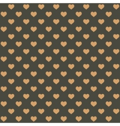Seamless Retro Style Pattern with Hearts vector image