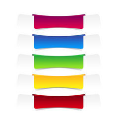 set colorful label banner vector image