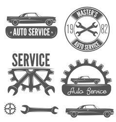 Set of badge emblem and label element for vector