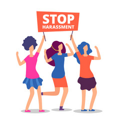 Sexual harassment concept stop abuse female vector