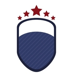 shield emblem with stars icon vector image