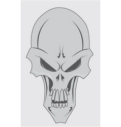 Skull with jaw vector