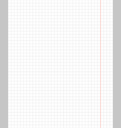 standart notebook sheet vertical cage 5 millimeter vector image