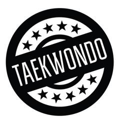 Taekwondo stamp in spanish vector