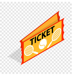 tennis ticket isometric icon vector image