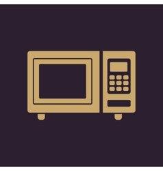 The microwave oven icon Kitchen symbol Flat vector