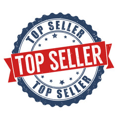 top seller grunge rubber stamp vector image