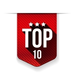 Top Ten ribbon vector