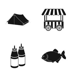 travel fast food and other web icon in black vector image