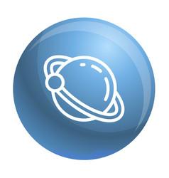 Uranus planet icon outline style vector