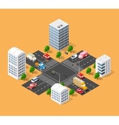 urban transport street vector image