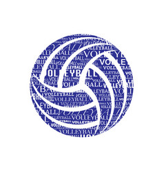 Volleyball text symbol vector