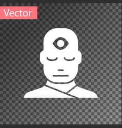 White man with third eye icon isolated vector