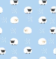 White sheep and black sheep pattern seamless vector