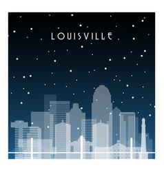 Winter night in louisville night city vector