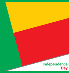 benin independence day vector image vector image