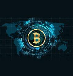 Bitcoin with hud elements bit coin btc bit-coin vector