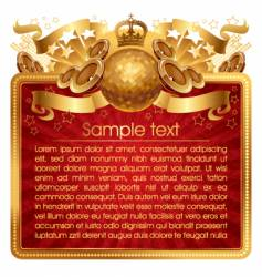 gold musical frame vector image vector image