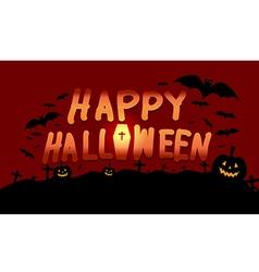 Happy halloween image with pumpkin vector