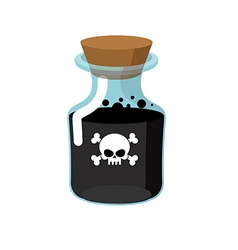Poison Bottle with a black liquid Glass magic Bank vector image vector image