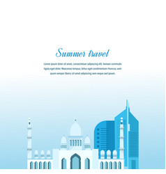 Travel in arab emirates study of country culture vector