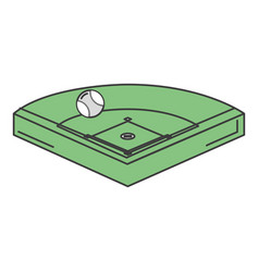 baseball diamond isolated icon vector image