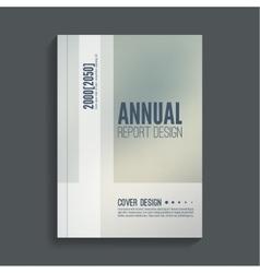 Brochure annual report vector image