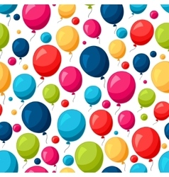 Celebration festive seamless pattern with colorful vector image vector image