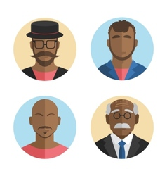 flat design African American men vector image