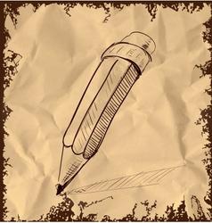 Hand drawing pencil sketch vector image vector image