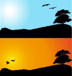 landscape backgrounds vector image vector image