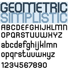 Poster black bold font and numbers facet geometric vector image