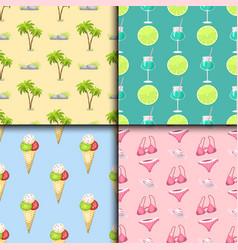 summer time seamless pattern beach sea shore vector image vector image