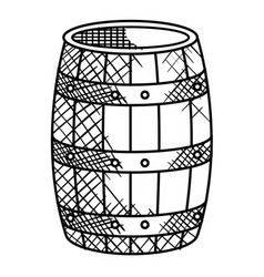 wine barrel isolated icon vector image