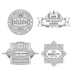 collection of retro outline vintage style labels vector image vector image