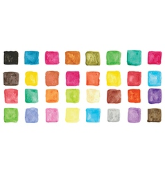 Colorful watercolor square icons vector image vector image