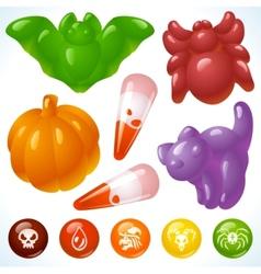 Halloween food creepy treats and tasty eats vector
