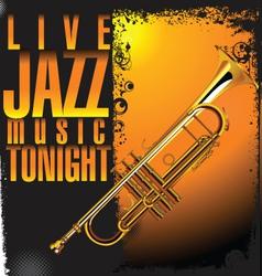 Jazz concert background vector image vector image