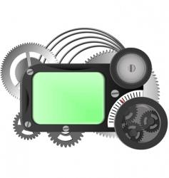 mechanism from gears vector image