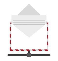 open envelope with document icon vector image vector image