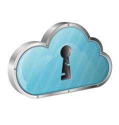 Security Cloud Computing Concept vector image