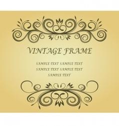 vintage frame for design vector image vector image