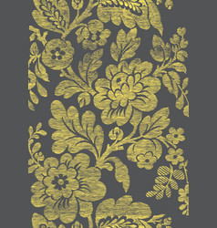 7 Abstract hand-drawn floral seamless pattern vector image vector image