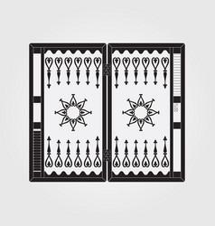 backgammon on the wooden box vector image