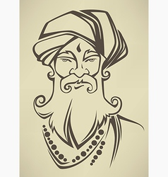 indian man vector image