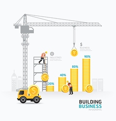 Infographic business money graph template design vector image