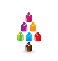 Leader teamwork tree logo vector image vector image