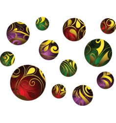 abstract balls vector image